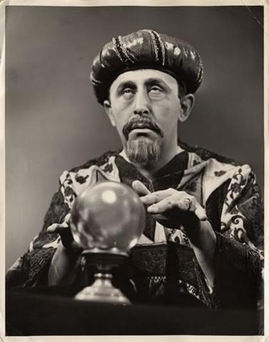 black and white fortune teller image